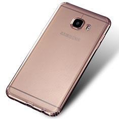 Silikon Schutzhülle Ultra Dünn Tasche Durchsichtig Transparent Q02 für Samsung Galaxy C7 SM-C7000 Klar