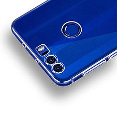 Silikon Schutzhülle Ultra Dünn Tasche Durchsichtig Transparent R01 für Huawei Honor 8 Klar