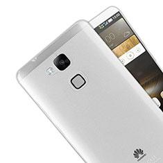 Silikon Schutzhülle Ultra Dünn Tasche Durchsichtig Transparent R01 für Huawei Mate 7 Klar