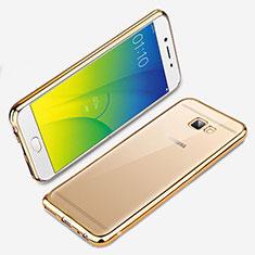 Silikon Schutzhülle Ultra Dünn Tasche Durchsichtig Transparent R01 für Samsung Galaxy J7 Prime Gold