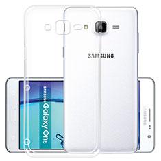 Silikon Schutzhülle Ultra Dünn Tasche Durchsichtig Transparent R01 für Samsung Galaxy On5 G550FY Klar