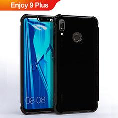 Silikon Schutzhülle Ultra Dünn Tasche Durchsichtig Transparent S01 für Huawei Enjoy 9 Plus Schwarz