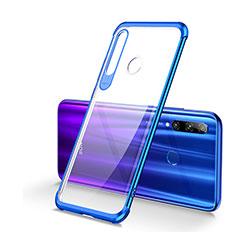 Silikon Schutzhülle Ultra Dünn Tasche Durchsichtig Transparent S01 für Huawei Honor 20i Blau