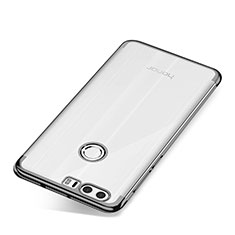Silikon Schutzhülle Ultra Dünn Tasche Durchsichtig Transparent S01 für Huawei Honor 8 Grau