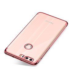 Silikon Schutzhülle Ultra Dünn Tasche Durchsichtig Transparent S01 für Huawei Honor 8 Rosegold