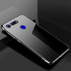 Silikon Schutzhülle Ultra Dünn Tasche Durchsichtig Transparent S01 für Huawei Honor V20 Schwarz