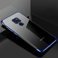 Silikon Schutzhülle Ultra Dünn Tasche Durchsichtig Transparent S01 für Huawei Mate 20 Blau