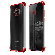 Silikon Schutzhülle Ultra Dünn Tasche Durchsichtig Transparent S01 für Huawei Mate 20 Pro Rot