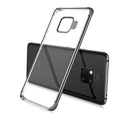 Silikon Schutzhülle Ultra Dünn Tasche Durchsichtig Transparent S01 für Huawei Mate 20 Pro Schwarz