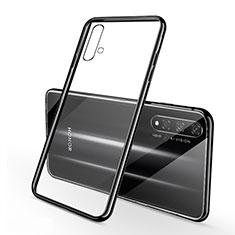 Silikon Schutzhülle Ultra Dünn Tasche Durchsichtig Transparent S01 für Huawei Nova 5T Schwarz