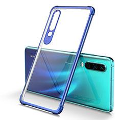 Silikon Schutzhülle Ultra Dünn Tasche Durchsichtig Transparent S01 für Huawei P30 Blau