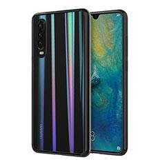 Silikon Schutzhülle Ultra Dünn Tasche Durchsichtig Transparent S01 für Huawei P30 Plusfarbig
