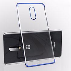 Silikon Schutzhülle Ultra Dünn Tasche Durchsichtig Transparent S01 für OnePlus 7 Blau