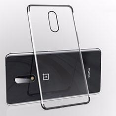 Silikon Schutzhülle Ultra Dünn Tasche Durchsichtig Transparent S01 für OnePlus 7 Schwarz