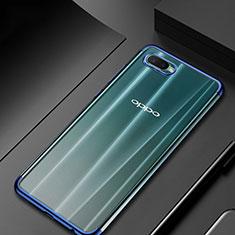 Silikon Schutzhülle Ultra Dünn Tasche Durchsichtig Transparent S01 für Oppo R15X Blau