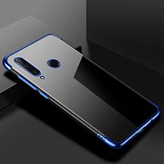 Silikon Schutzhülle Ultra Dünn Tasche Durchsichtig Transparent S02 für Huawei Honor 20 Lite Blau