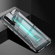 Silikon Schutzhülle Ultra Dünn Tasche Durchsichtig Transparent S02 für Huawei Honor 20 Pro Schwarz