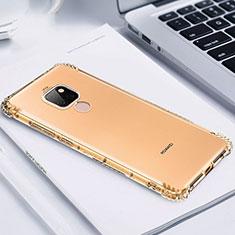 Silikon Schutzhülle Ultra Dünn Tasche Durchsichtig Transparent S02 für Huawei Mate 20 Gold