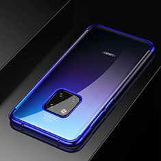 Silikon Schutzhülle Ultra Dünn Tasche Durchsichtig Transparent S02 für Huawei Mate 20 Pro Blau