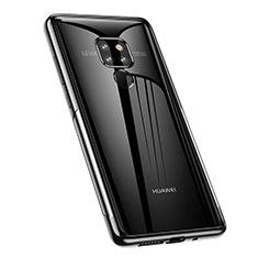 Silikon Schutzhülle Ultra Dünn Tasche Durchsichtig Transparent S02 für Huawei Mate 20 Schwarz