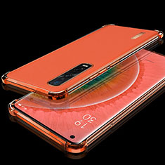 Silikon Schutzhülle Ultra Dünn Tasche Durchsichtig Transparent S02 für Oppo Find X2 Pro Rot