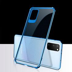 Silikon Schutzhülle Ultra Dünn Tasche Durchsichtig Transparent S02 für Samsung Galaxy S20 5G Blau