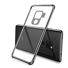 Silikon Schutzhülle Ultra Dünn Tasche Durchsichtig Transparent S03 für Huawei Mate 20 Schwarz