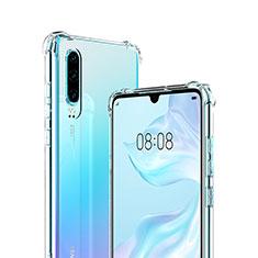 Silikon Schutzhülle Ultra Dünn Tasche Durchsichtig Transparent S03 für Huawei P30 Klar