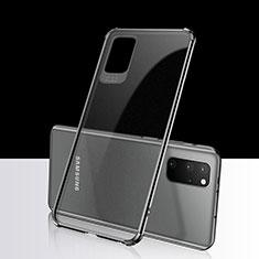 Silikon Schutzhülle Ultra Dünn Tasche Durchsichtig Transparent S03 für Samsung Galaxy S20 Plus Schwarz