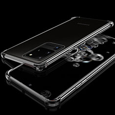 Silikon Schutzhülle Ultra Dünn Tasche Durchsichtig Transparent S03 für Samsung Galaxy S20 Ultra 5G Schwarz