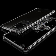Silikon Schutzhülle Ultra Dünn Tasche Durchsichtig Transparent S03 für Samsung Galaxy S20 Ultra Schwarz