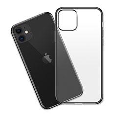 Silikon Schutzhülle Ultra Dünn Tasche Durchsichtig Transparent S04 für Apple iPhone 11 Schwarz