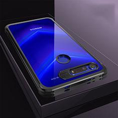 Silikon Schutzhülle Ultra Dünn Tasche Durchsichtig Transparent S04 für Huawei Honor V20 Schwarz