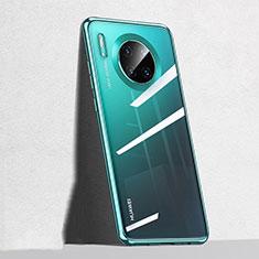 Silikon Schutzhülle Ultra Dünn Tasche Durchsichtig Transparent S04 für Huawei Mate 30 Grün