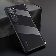 Silikon Schutzhülle Ultra Dünn Tasche Durchsichtig Transparent S04 für Huawei P30 Pro Schwarz