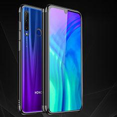 Silikon Schutzhülle Ultra Dünn Tasche Durchsichtig Transparent S05 für Huawei Honor 20 Lite Schwarz