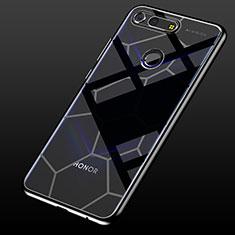 Silikon Schutzhülle Ultra Dünn Tasche Durchsichtig Transparent S05 für Huawei Honor V20 Schwarz