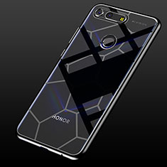Silikon Schutzhülle Ultra Dünn Tasche Durchsichtig Transparent S05 für Huawei Honor View 20 Schwarz