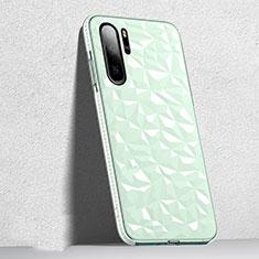 Silikon Schutzhülle Ultra Dünn Tasche Durchsichtig Transparent S05 für Huawei P30 Pro Grün