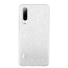 Silikon Schutzhülle Ultra Dünn Tasche Durchsichtig Transparent S05 für Huawei P30 Weiß