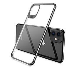 Silikon Schutzhülle Ultra Dünn Tasche Durchsichtig Transparent S06 für Apple iPhone 11 Pro Schwarz