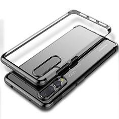 Silikon Schutzhülle Ultra Dünn Tasche Durchsichtig Transparent S06 für Huawei P20 Pro Schwarz