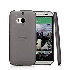 Silikon Schutzhülle Ultra Dünn Tasche Durchsichtig Transparent T01 für HTC One M8 Schwarz