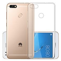 Silikon Schutzhülle Ultra Dünn Tasche Durchsichtig Transparent T01 für Huawei Enjoy 7 Klar