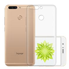 Silikon Schutzhülle Ultra Dünn Tasche Durchsichtig Transparent T01 für Huawei Honor 8 Pro Klar