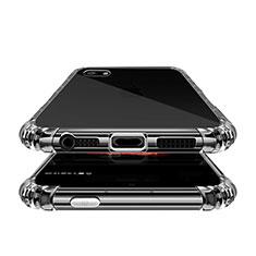 Silikon Schutzhülle Ultra Dünn Tasche Durchsichtig Transparent T02 für Apple iPhone 5S Klar