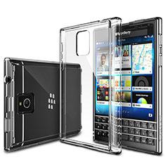 Silikon Schutzhülle Ultra Dünn Tasche Durchsichtig Transparent T02 für Blackberry Passport Q30 Klar