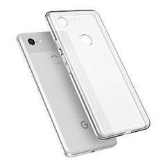 Silikon Schutzhülle Ultra Dünn Tasche Durchsichtig Transparent T02 für Google Pixel 3 XL Klar