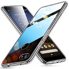 Silikon Schutzhülle Ultra Dünn Tasche Durchsichtig Transparent T02 für Google Pixel 3a XL Klar