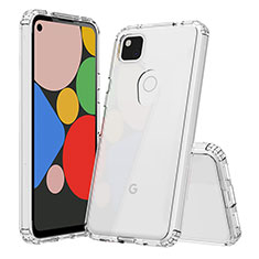 Silikon Schutzhülle Ultra Dünn Tasche Durchsichtig Transparent T02 für Google Pixel 4a Klar